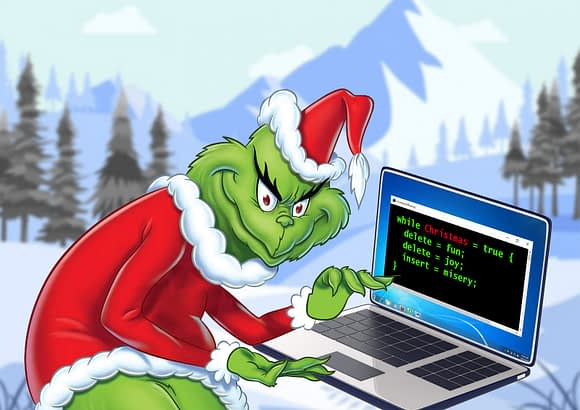 cyber grinch hacking chritmas