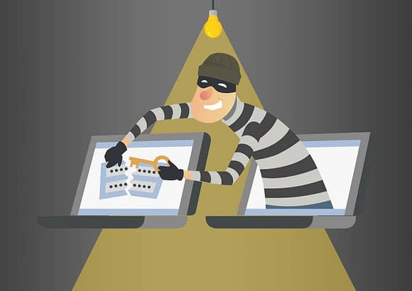 hacker trying to break username and password credentials