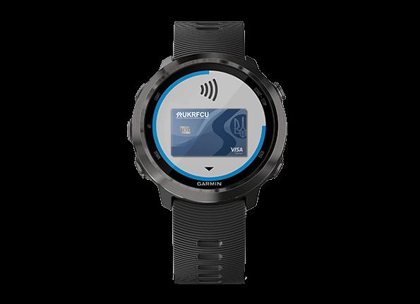 Garmin Watch with UKRFCU card example digital ewallet