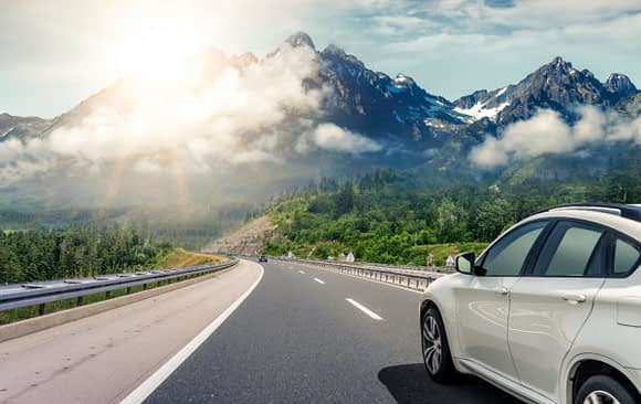 car loan auto driving with view